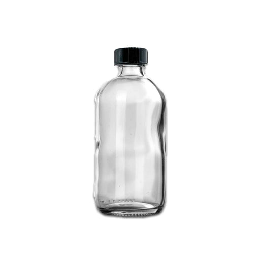 8 oz Clear Glass Bottle w/ Black Storage Cap - Your Oil Tools