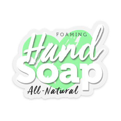 All Natural Foaming Hand Soap Label - Your Oil Tools