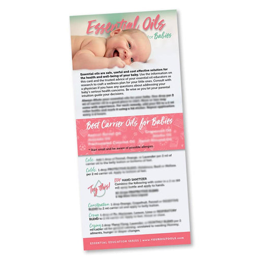 Essential Oils for Babies Education Cards - Your Oil Tools