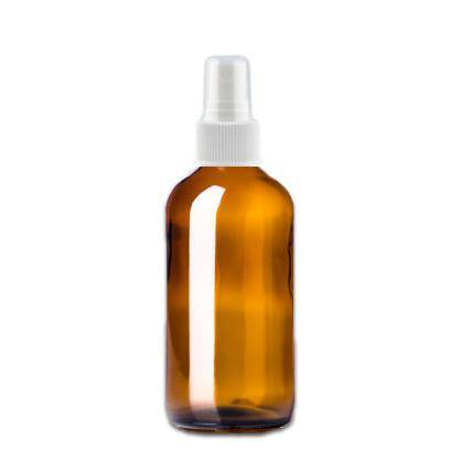 8 oz Amber Glass Bottle w/ White Fine Mist Top - Your Oil Tools