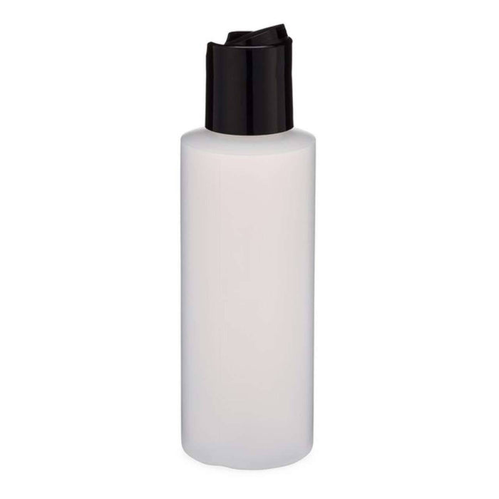 2 oz HDPE Clear Plastic Bottle w/ Black Disc Top - Your Oil Tools