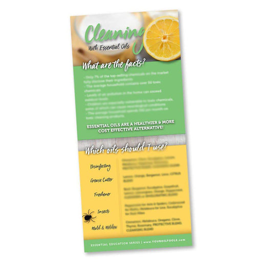 Cleaning With Essential Oils Education Cards - Your Oil Tools