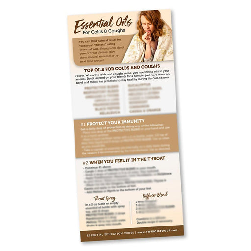 Essential Oils for Colds & Coughs Education Card - Your Oil Tools