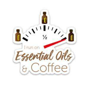 I Run On Essential Oils & Coffee Sticker - Your Oil Tools