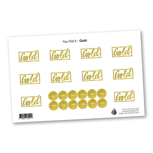 Gold Rank Labels & Lid Stickers - Your Oil Tools