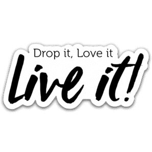 Drop It, Love It, Live It Sticker