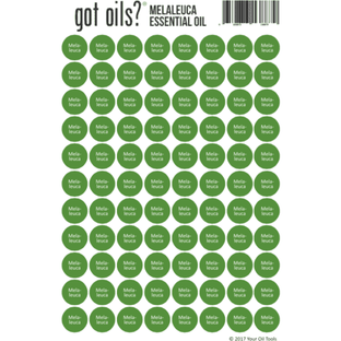 Lid Stickers (Melaleuca) - Your Oil Tools
