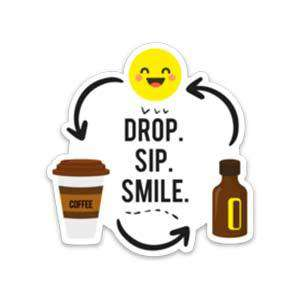 Drop Sip Smile Sticker - Your Oil Tools