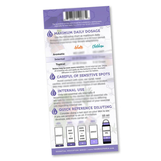 Essential Oil Safety Education Card - Your Oil Tools
