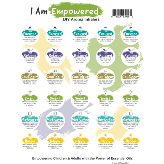 I Am Empowered Label Sheet - Your Oil Tools