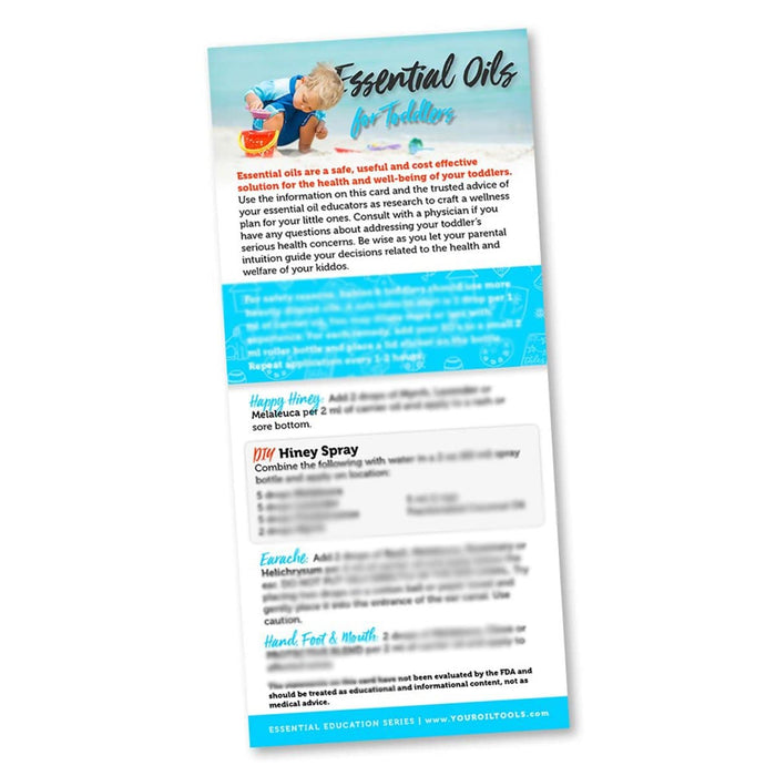 Essential Oils for Toddlers Education Cards - Your Oil Tools