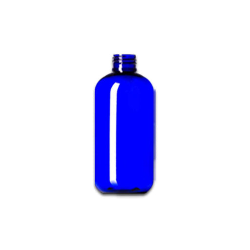 2 oz Blue Plastic Boston Round Bottle (caps NOT included) - Your Oil Tools