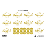 Diamond Rank Labels & Lid Stickers - Your Oil Tools