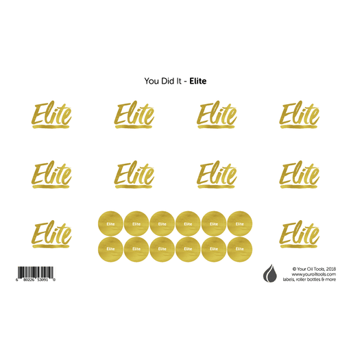 Elite Rank Labels & Lid Stickers - Your Oil Tools