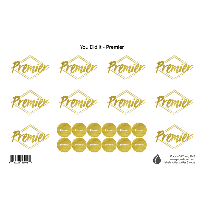 Premier Rank Labels & Lid Stickers - Your Oil Tools