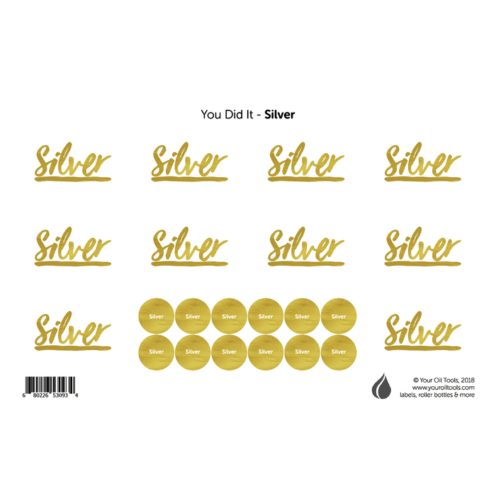 Silver Rank Labels & Lid Stickers - Your Oil Tools