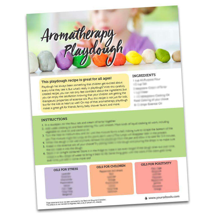 Aromatherapy Playdough Laminate Sheet - Your Oil Tools