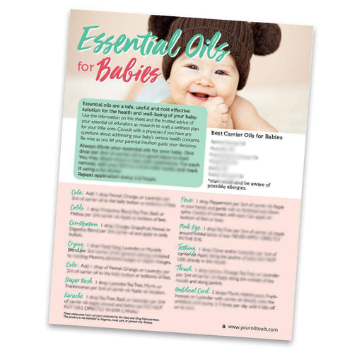 Babies Laminate Recipe Sheet - Your Oil Tools