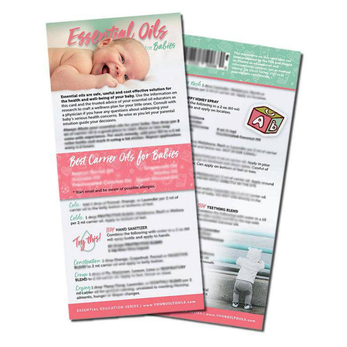 Essential Oils for Babies Education Cards