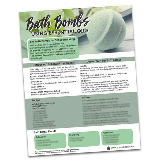 Bath Bomb Recipe Sheet (digital download) - Your Oil Tools