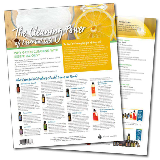 Cleaning Power of Essentials Oils Laminate Sheet - Your Oil Tools
