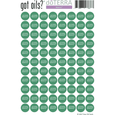 Lid Stickers (doTERRA® Balance) - Your Oil Tools