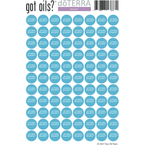 Lid Stickers (doTERRA® Breathe) - Your Oil Tools
