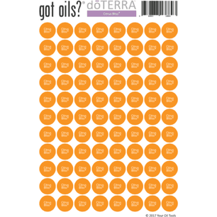 doTERRA® Lid Stickers (Citrus Bliss)