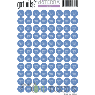 Lid Stickers (doTERRA® DigestZen) - Your Oil Tools