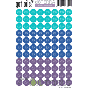 Lid Stickers (doTERRA® Muscle & Tension) - Your Oil Tools