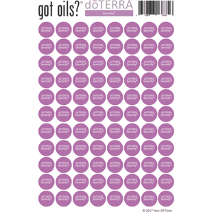 Lid Stickers (doTERRA® Serenity) - Your Oil Tools