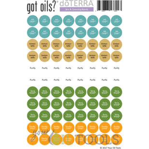 doTERRA® Lid Stickers (Skin & Cleansing)