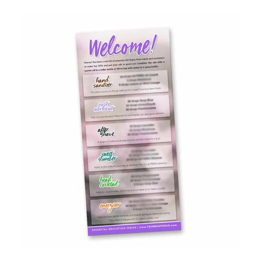 Welcome Kit Education Cards for doTERRA (Pack of 10) - Your Oil Tools
