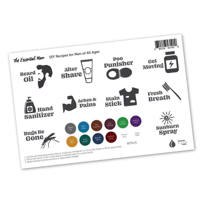 Essential Man Labels & Lid Stickers - Your Oil Tools