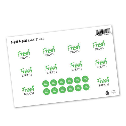 Fresh Breath Labels & Lid Stickers - Your Oil Tools