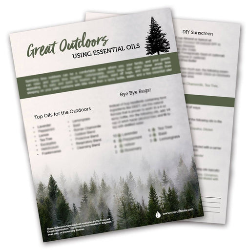 Great Outdoors with Essential Oils Tear Pad (digital download) - Your Oil Tools