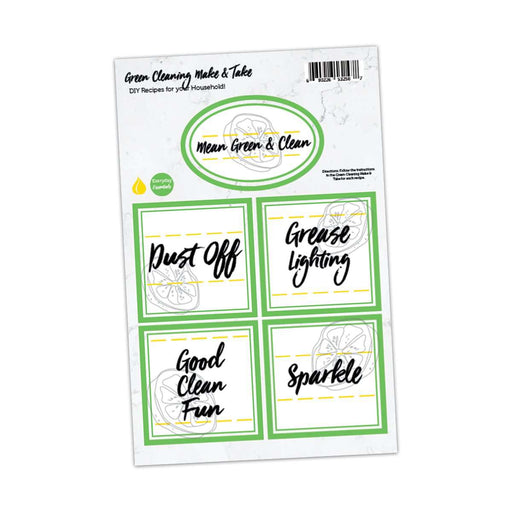 Green Cleaning Labels - Your Oil Tools