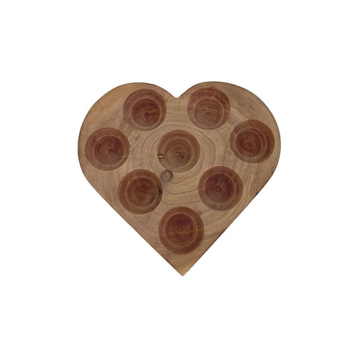 Heart Wooden Display Holder (Cedar) - Your Oil Tools