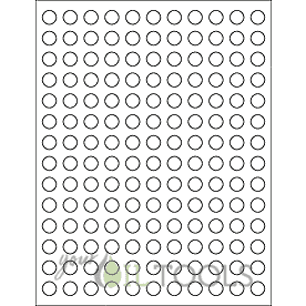 "White Circle 0.5"" Round Lid Sticker Sheet (1 sheet, 154 labels) - Your Oil Tools"