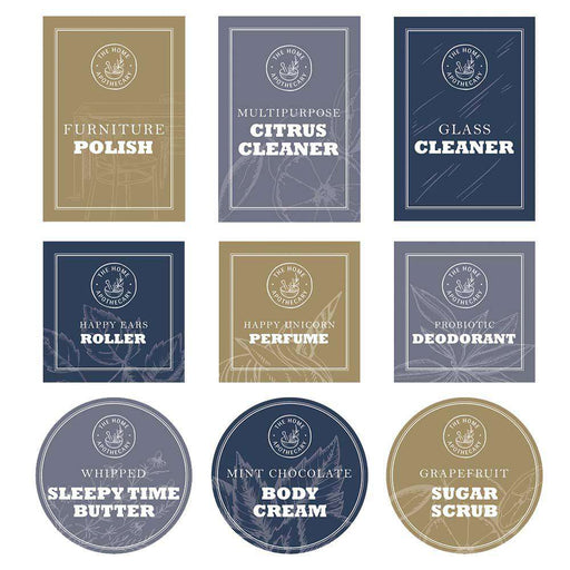 The Home Apothecary Vinyl Label Set - Your Oil Tools