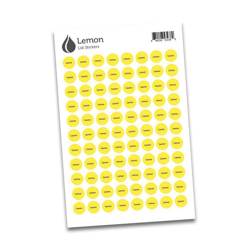 Lid Stickers (Lemon) - Your Oil Tools