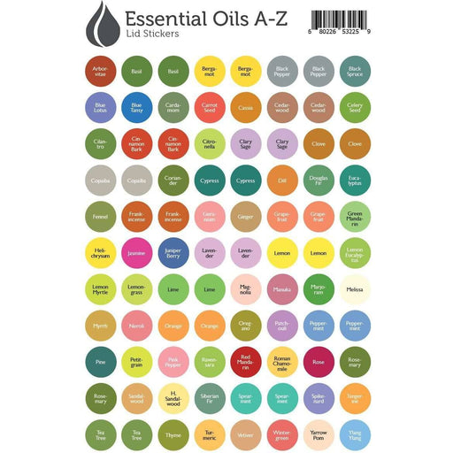 Lid Stickers (A-Z Oils) - Your Oil Tools