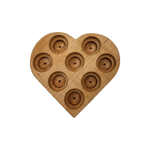 Heart Wooden Display Holder for 10 and 15 ml Bottles (Maple) - Your Oil Tools