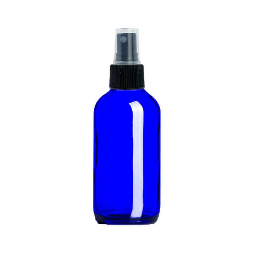 4 oz Blue Glass Bottle w/ Fine Mist Top - Your Oil Tools