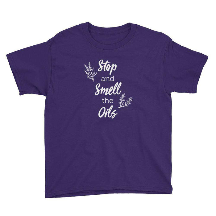 Stop and Smell the Oils Youth Short Sleeve T-Shirt - Your Oil Tools