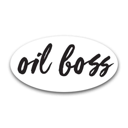"""Oil Boss"" Oval Label - Your Oil Tools"