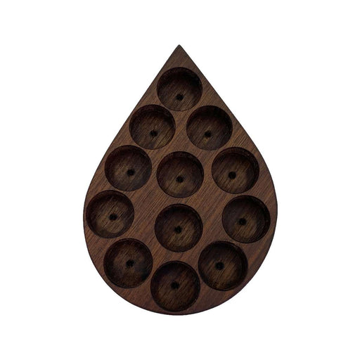 Oil Drop Wooden Display Holder (Walnut) - Your Oil Tools