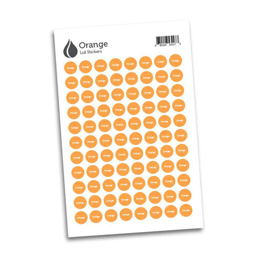 Lid Stickers (Orange) - Your Oil Tools