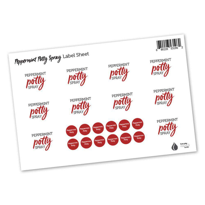 Peppermint Potty Labels & Lid Stickers - Your Oil Tools