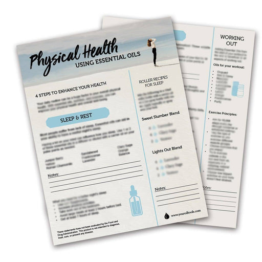Physical Health with Essential Oils Tear Pad (digital download) - Your Oil Tools